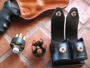 I got the Taurus a present! I've worn out a few speed strips with the old 431, and finally decided that they're just very badly named. Being a late convert to centerfire revolvers, I've gone all this time and never used a speedloader in my whole life but I finally broke down and bought a couple. Assuming they don't turn out too cumbersome on the belt, they really are much faster. Much.