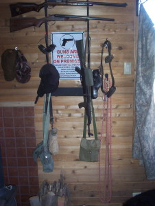 And that's right where the gun rack currently resides.